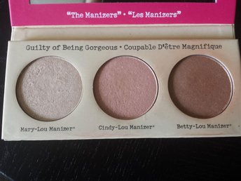 TheBalm luminizer palett, The Manizer Sisters highlighter