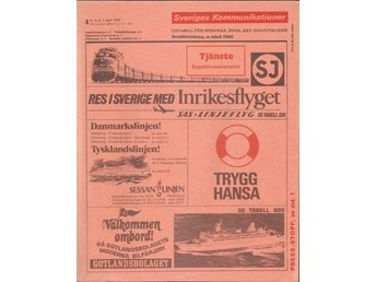 Sveriges Kommunikationer nr. 4, fr.o.m. 1 april 1975/Tjänste Expeditionsexemplar