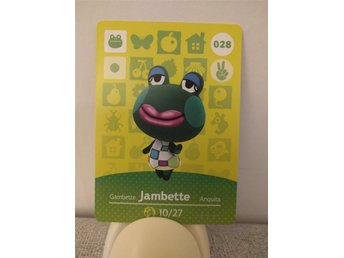 Animal Crossing Amiibo Welcome Amiibo card nr 028 Jambette