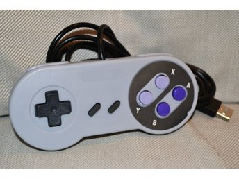 SNES Handkontroll USB PC, Macbook (Klassisk, Lila) Tredjepar