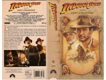 Indiana Jones and the Last Crusade VHS Region 1