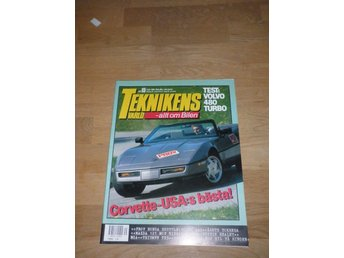 Teknikens Värld nr 15, 1988, Test Volvo 480 Turbo