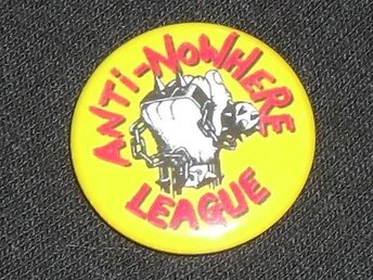 ANTI-NOWHERE LEAGUE - 2,5 cm - Badge / Pin / Knapp (Punk, Oi!, Skinheads,) - Falkenberg - ANTI-NOWHERE LEAGUE - 2,5 cm - Badge / Pin / Knapp (Punk, Oi!, Skinheads,) - Falkenberg