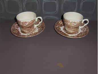 2 kaffegods English Ironstone Grasmere EIT Made in England