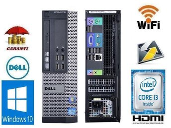 DELL i3 + Wi-Fi 3.30 GHz win 10 + 1-3 M Garanti
