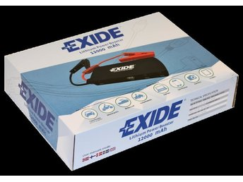 Exide Lithium Power Booster 12000 mAh, Batteriladdare, NY