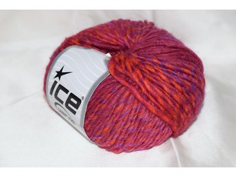Virginia Wool, röd/lila, 50 g