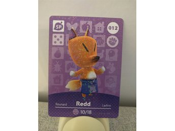 Animal Crossing Amiibo Welcome Amiibo card nr 012 Redd