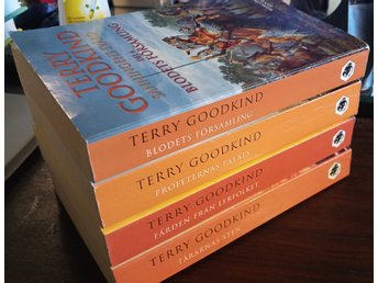 Lot: TERRY GOODKIND: SANNINGENS SVÄRD, Del 3-6 i pocket (4 böcker, totalt)