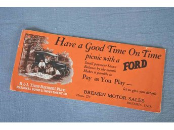 "FORD "" Have A Good Time"" läskpapper med Ford reklam 1920-tal  ,,,, RARITET !!"