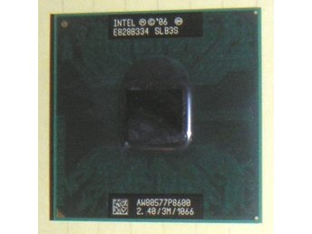 Intel Core2 Duo processor P8600 (2,4 GHz) för bärbara