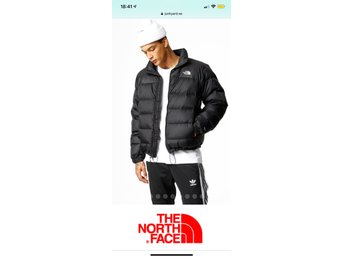 Svart north face nuptse 2