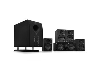 Auna Areal 525 BK 5.1 surround-högtalarset Auna aktiva högtalare hemmabio 2dee035c1e66a