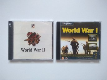 2 CD-ROM skivor, World War 1 och World War 2