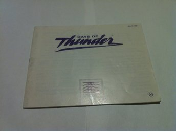NES - Manualer: Days of Thunder (Endast manual Tysk)