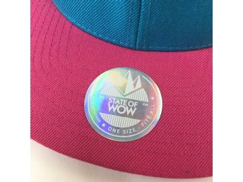 State Of Wow, Snapback Keps, Rosa/Turkos
