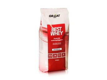 Great Sports - Best Whey Jordgubb 900g
