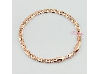 18cm-23cm Accessories For Women Mens 4.5mm Rose Gold Filled Bracelet Link Snail