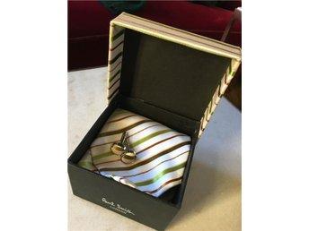 Paul Smith siden slips, manschettknappar, låda - Stockholm - Paul Smith siden slips, manschettknappar, låda - Stockholm