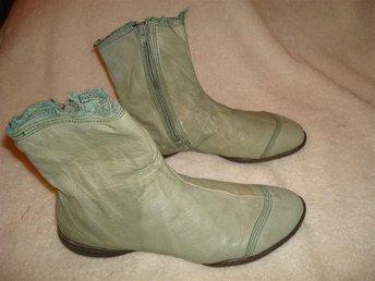 TRIPPEN. ljus bekvämt, mjukt äkta läder boots i storlek:37 - örebro - TRIPPEN. ljus bekvämt, mjukt äkta läder boots i storlek:37 - örebro