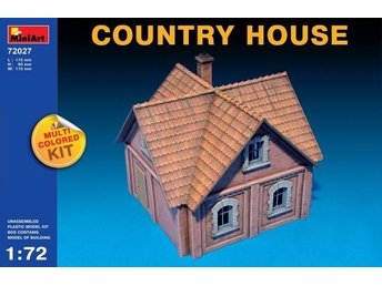 Miniart 1/72 Country House (Multi Coloured Kit)
