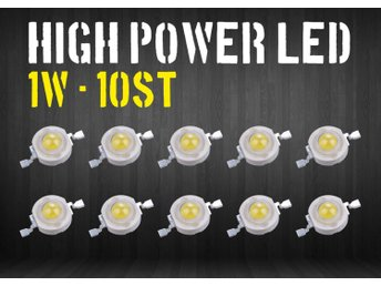 10st 1W Power Ledlampa - Varmvit
