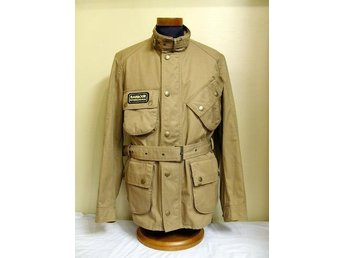 Barbour international - washed twill motorcycle jacka (sandstone färg) - M