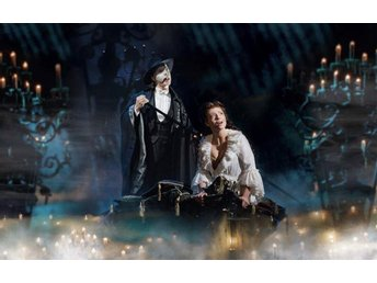 2 biljetter till The Phantom of the Opera vid Her Majesty's Theatre i London.