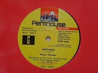 "Wayne Wonder title*  Emptiness *Reggae, Dancehall 12""  UK"