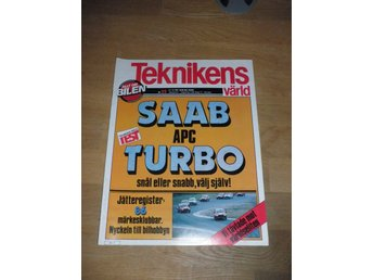 Teknikens Värld nr 22, 1981, Saab APC Turbo