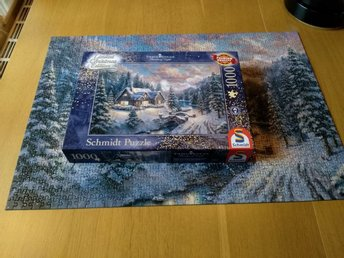 Underbart Jul pussel Limited Christmas Edition av Thomas Kinkade , 1000 bit.