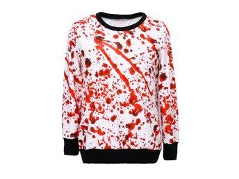 HALLOWEEN TRÖJA MED BLOD SWEATSHIRT ONE SIZE SPLATTER BLOOD - Copenhagen - HALLOWEEN TRÖJA MED BLOD SWEATSHIRT ONE SIZE SPLATTER BLOOD - Copenhagen