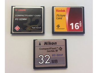 3 minneskort CompactFlash - 16 & 32 Mb