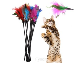 Kattleksaker 5sts Colorful Feather Cat Toys