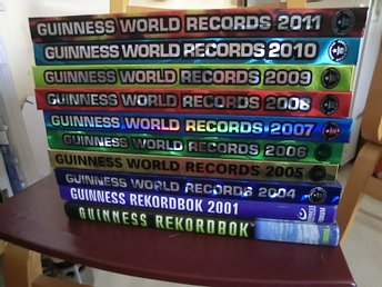 10 st GUINNESS WORLD REKORDBOK  99, 01, 04, 05, 06, 07, 08, 09, 10, 11,