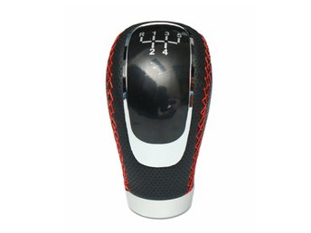 Universal Black PU Leather Manual Car Gear Shift Knob Shi...