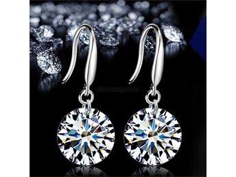 Fashion Elegant Crystal Rhinestone Dangle Ear Stud Örhängen - Hong Kong - Fashion Elegant Crystal Rhinestone Dangle Ear Stud Örhängen - Hong Kong