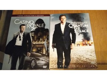 TVÅ DVD MED JAMES BOND: CASINO ROYALE OCH QUANTUM OF SOLACE