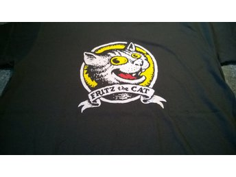 T-Shirt. Svart. Fritz The Cat. Medium