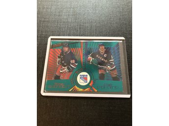 Wayne Gretzky & Mark Messier 1997-98 pacific Dynagon parallell EMERALD