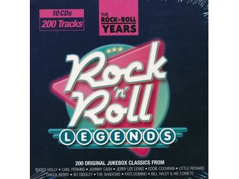 ROCK`N`ROLL LEGENDS  : 200 TRACKS (10-CD) / NY PLASTEN KVAR UTGÅNGEN