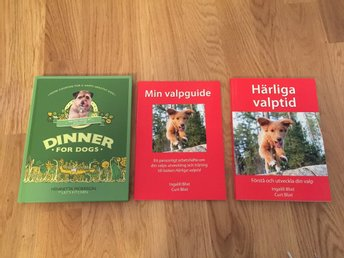Hundböcker Härliga valptid Min valpguide Dinner for dogs