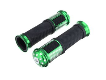 Pair 7/8 22mm Motorcycle Hand Grip Bar Motor Bike Handleb...
