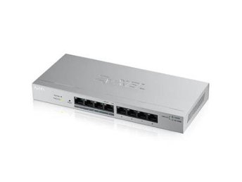 Zyxel GS1200-8HPv2 8 port GB PoE+, webmanaged Switch, 4x PoE, 60 Watt, fanless