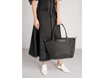 Longchamp Le Pliage Neo tote väska tygskinn svart helt ny med tags 1399, fynd