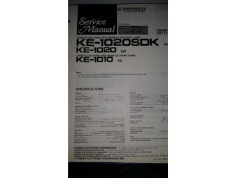 Pioneer KE-1020SDK Orginal Service manual
