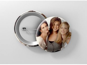 Friends Jennifer Aniston Courteney Cox Lisa Kudrow Pin / Knapp / Badge Stor 57mm