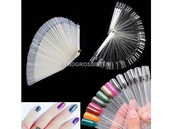 False Display Nail Nagel Art Fan Wheel Polish Practice Fri Frakt Helt Ny