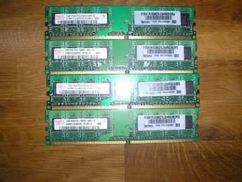 4GB RAM MINNE HYNIX 4x1GB PC2-5300U-555-12