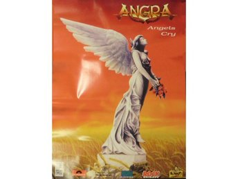 Angra-Angels cry Rare original 1994 promo poster from LMP
